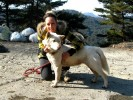 Allison with Crystal the Jindo.