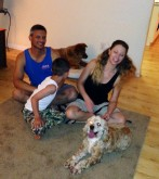 Toby's forever family in the USA!