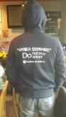 Back view of hoodie