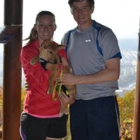 Dex and his family after a LONG hike!